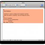 Mac OS X ターミナルから hosts ファイルを書き換える方法